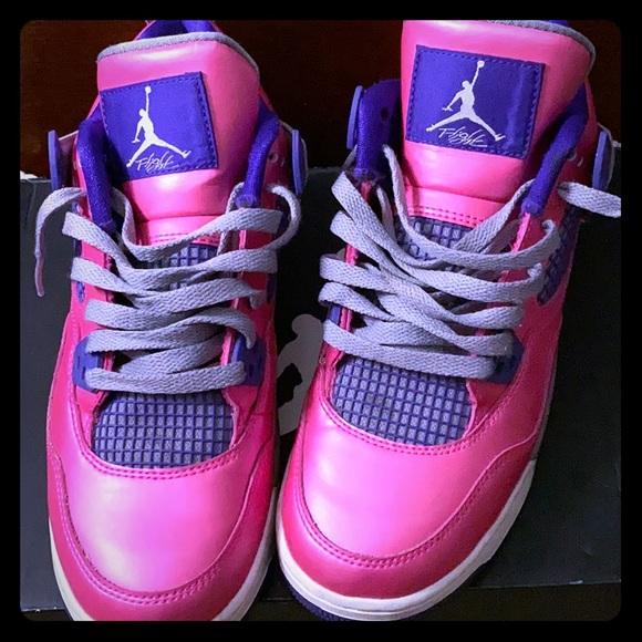 Girls Air Jordan 4 Retro Grade School